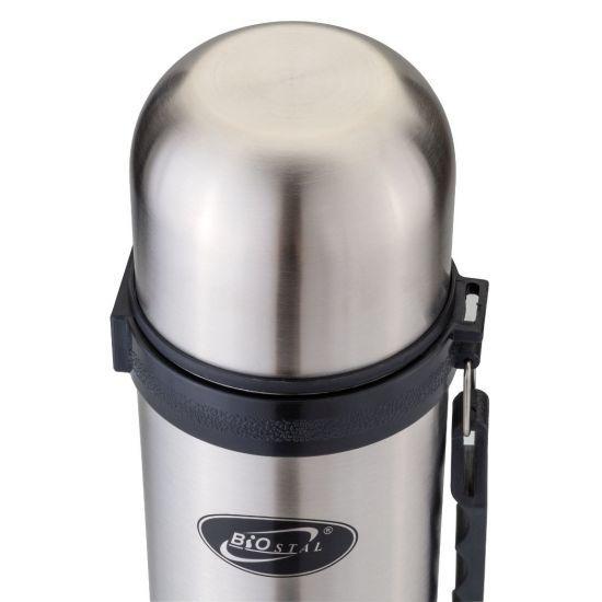 Термос Biostal (1 литр) с ручкой, стальной*