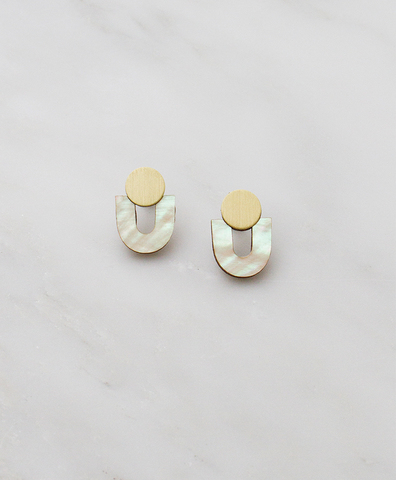 Серьги Jean Studs Mother of Pearl