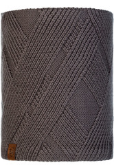 Вязаный шарф-труба с флисом Buff Neckwarmer Knitted Polar Raisa Grey Castlerock