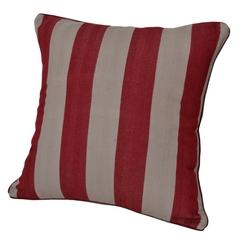 Подушка декоративная 45x45 Casual Avenue Rhode Island Stripe коричнево-красная