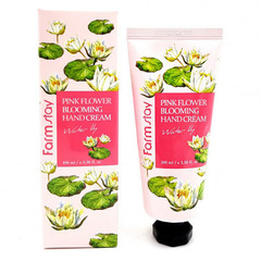 Farmstay Pink Flower Blooming Hand Cream Water Lily - Крем для рук с водяной лилией