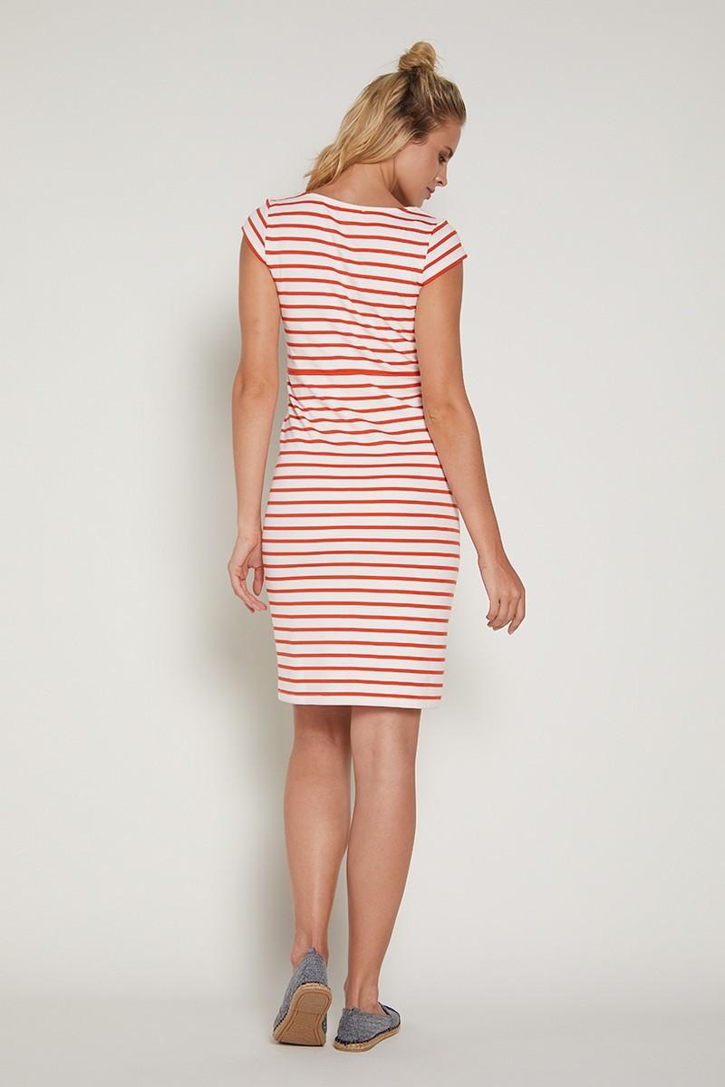 Платье 09360 оранжевый