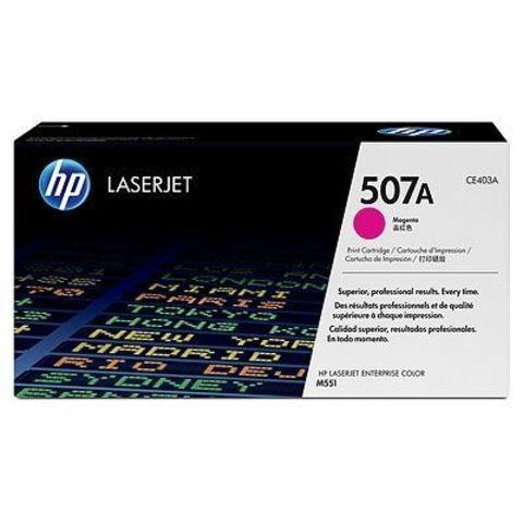 Картридж HP CE403A (507A) пурпурный / magenta для HP LaserJet Enterprise 500 M551n, M551dn, M551xh (Ресурс 6000 страниц)