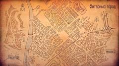 Интерьерный баннер «Карта Янтарного города»