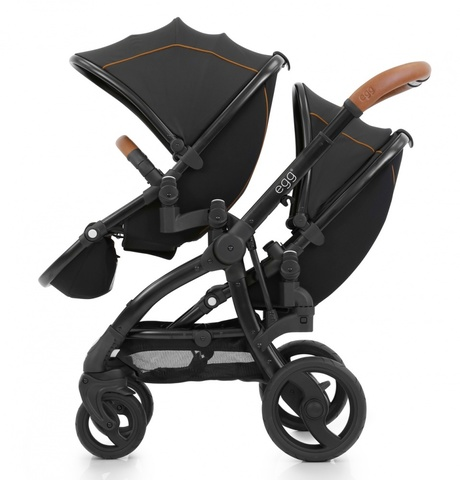 Egg Прогулочный блок для второго ребенка Tandem Seat Espresso & Black Chassis