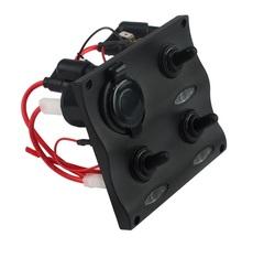 Панель переключателей (3 шт) с предохранителями постоянного тока