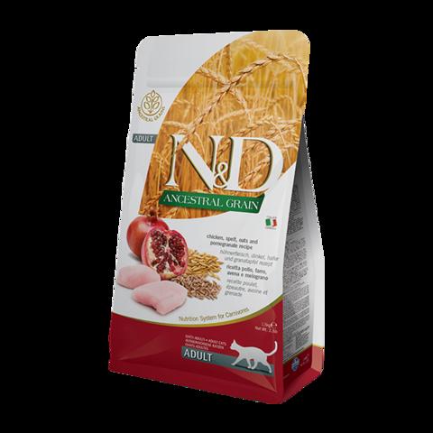 Farmina Ancestral Grain Chicken & Pomegranate Adult Сухой корм для кошек с Курицей и гранатом Низкозерновой