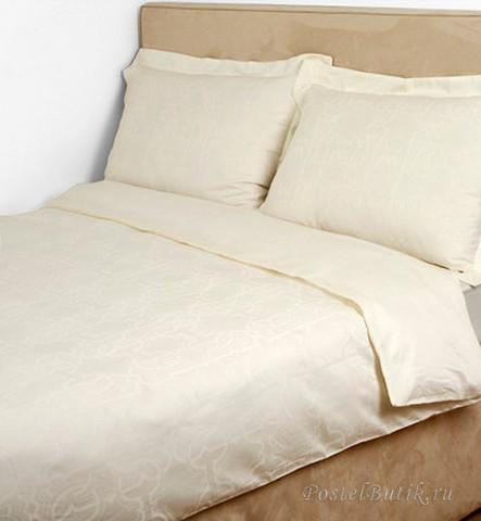 Постельное белье 2 спальное Roberto Cavalli Logo бежевое