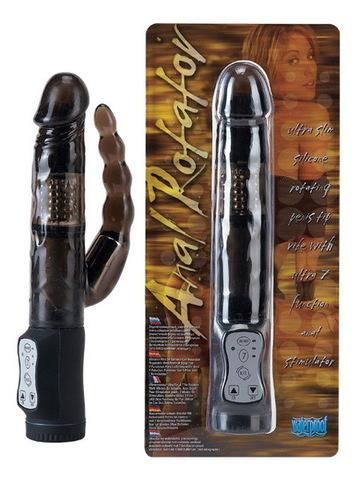 Двойной вибратор, анально - вагинальный, Seven Creations (3 х 14,5 см; 1,5 х 12 см)