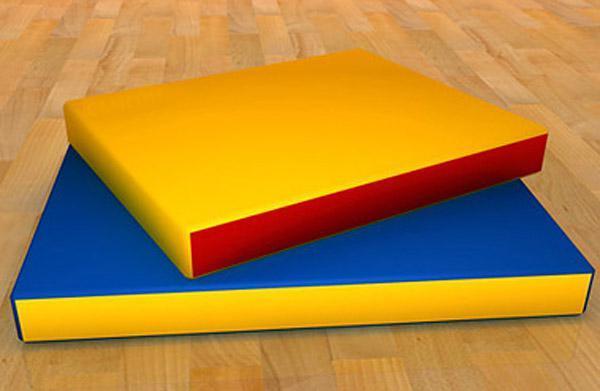 Мат гимнастический 1х1х0,1м, поролон, искуственная кожа