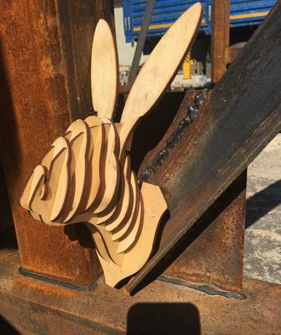 Трофей голова кролика