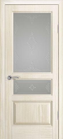 Дверь Океан Neo Classica Марсель , стекло белое, цвет ясень белый жемчуг, остекленная