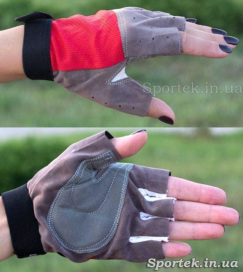 Перчатки велосипедные детские (Zelart) с полной защитой ладони и кисти без пальцев на руке
