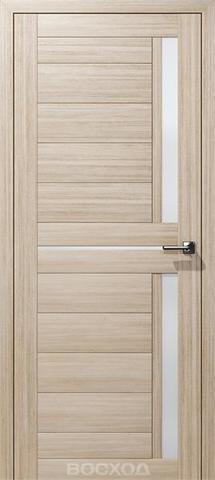 Дверь Восход Дельта, стекло сатин, цвет лиственница амурская, остекленная