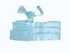 Камербанд (кушак, пояс) La madre светло голубой для смокинга+бабочка+платок