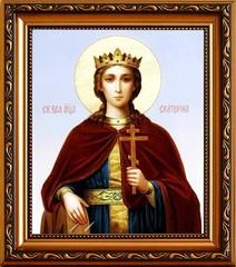 Екатерина Александрийская Святая великомученица. Икона на холсте.