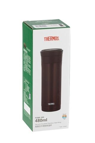 Термокружка Thermos TCMK-500 CBW (0,5 литра) с ситом, коричневая