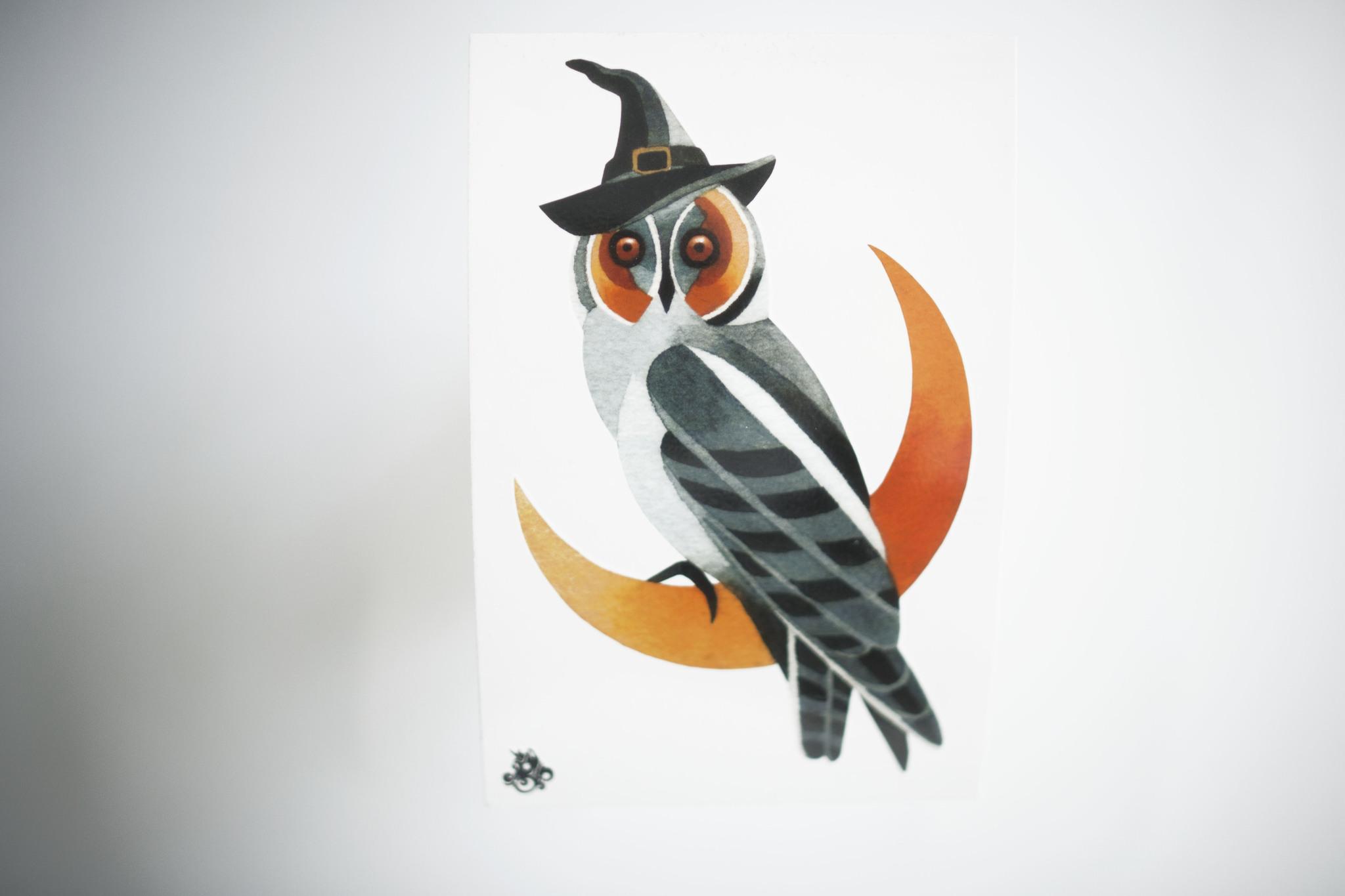 Переводная татуировка Owl