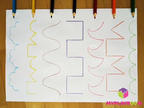 Трафареты-прописи для тренировки навыков первого письма, 7 шт. 5