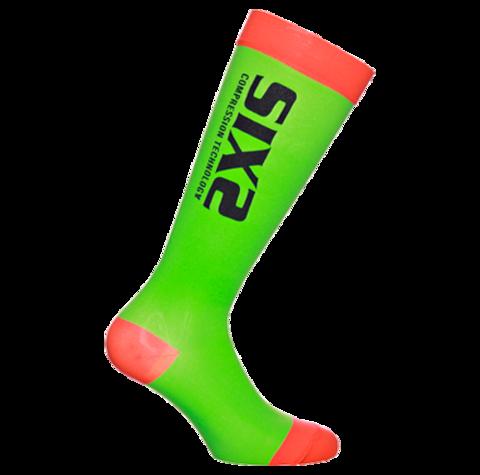 Sixs, Компрессионные носки Recover Socks, зелено-красный
