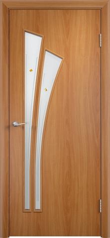 Дверь Верда C-7 (фьюзинг), цвет миланский орех, остекленная