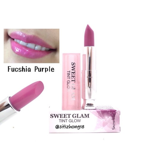SECRET KEY Lip Sweet Glam Тинт-бальзам увлажняющий Sweet Glam Tint Glow_Fuchsia Purple