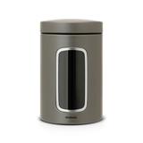 Контейнер для сыпучих продуктов с окном (1,4 л), Платиновый, артикул 288425, производитель - Brabantia