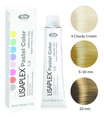 Оттенок Peppermint Перечная мята Крем-краситель для волос Lisaplex Pastel Color 60мл