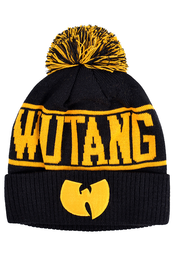 Шапка Wu-Tang черная с желтым