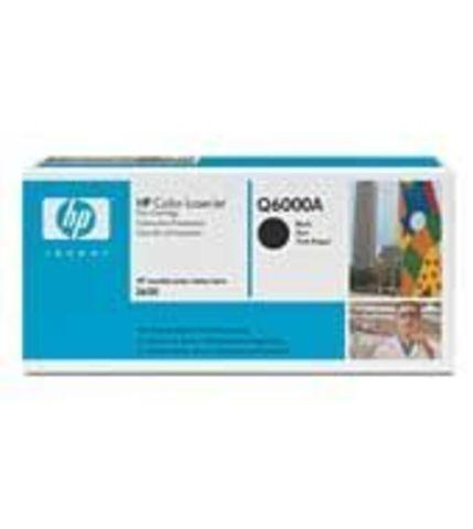 Картридж HP Q6000A (HP 124A) black черный - тонер-картридж для HP Color LaserJet 1600, 2600n, 2605, 2605dn, 2605dtn, CM1015, CM1017 (черный, 2500 стр.)
