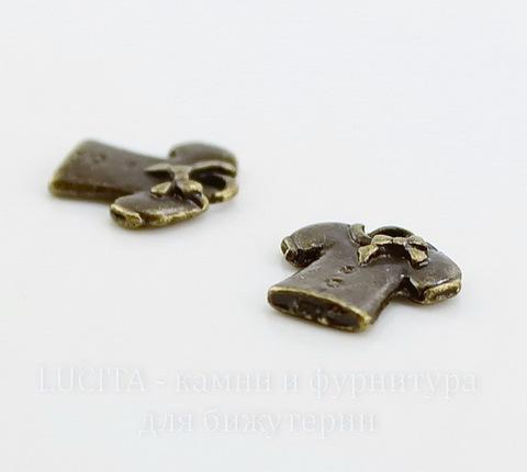"Подвеска ""Блузка"" 10х9 мм (цвет - античная бронза)"