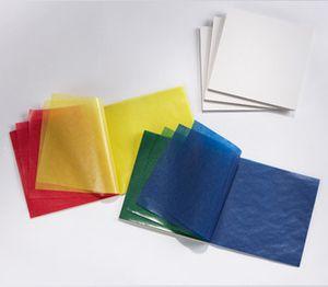 Бумага витражная, 50*70 см - ассорти 100 листов (Меркуриус)