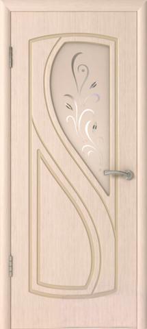 Дверь Владимирская фабрика дверей Грация 10ДО5, цвет беленый дуб, остекленная