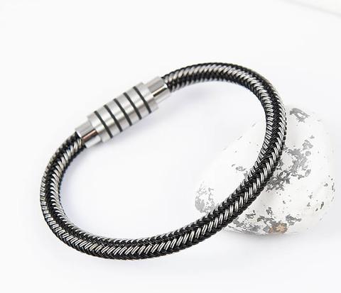 BM516 Мужской браслет из стальной проволоки (19 см)