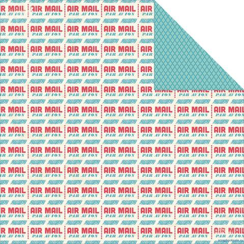 Лист двусторонней бумаги Postcard