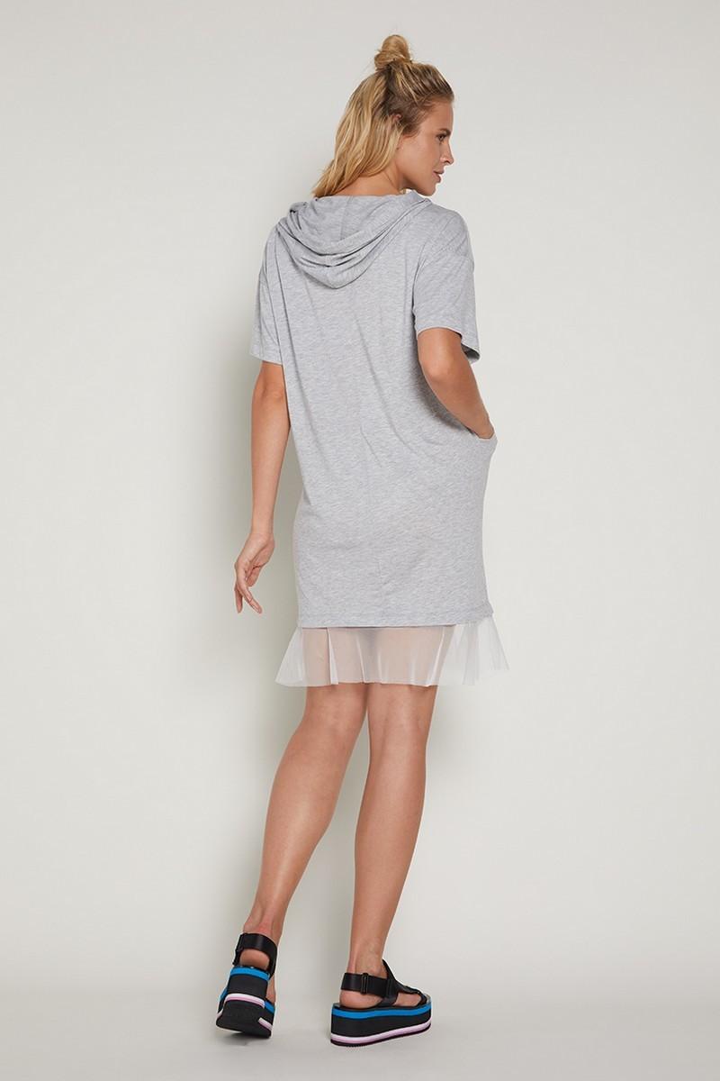 Платье 09361 серый меланж