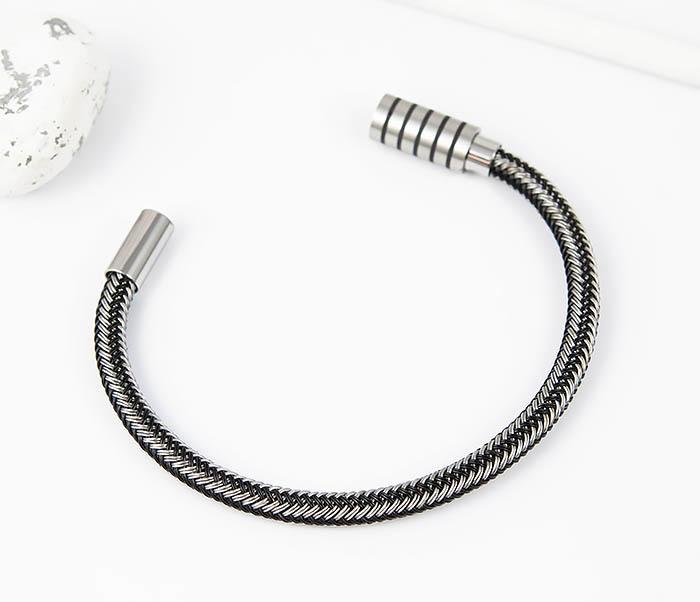 BM516 Мужской браслет из стальной проволоки (19 см) фото 02