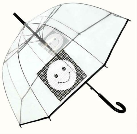 Купить онлайн Зонт-трость прозрачный Perletti Time-25920-Smile в магазине Зонтофф.
