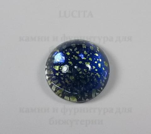 """Кабошон винтажный  """"Синий опал"""" (опаловое стекло) (15 мм) ()"""