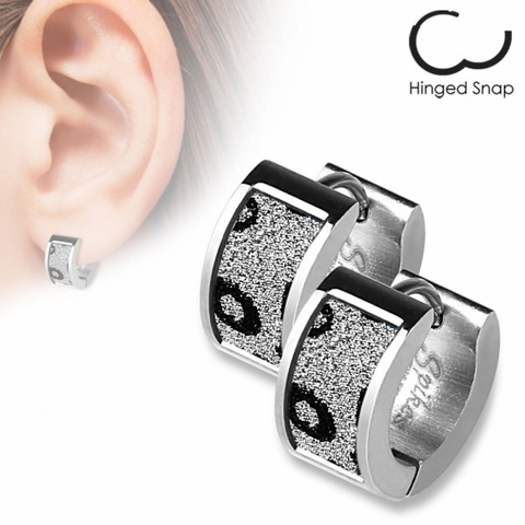 Оригинальные красивые стильные серьги кольцами женские с алмазным блеском из ювелирной стали 316L SPIKES SEZ-11