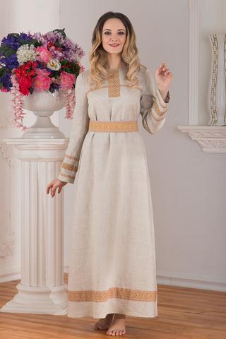 Платье льняное традиционное купить в интернет-магазине Иванка