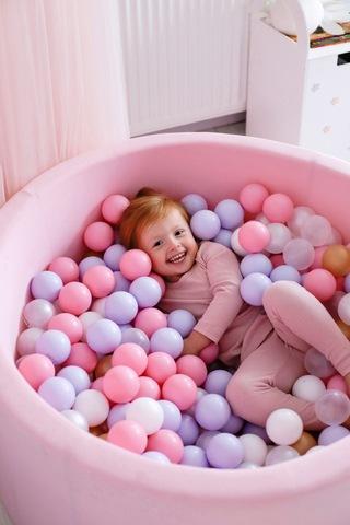 Сухой бассейн Anlipool 100/40см Розовый комплект №52  300 шаров