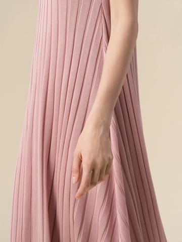 Женское платье светло-розового цвета из вискозы - фото 3