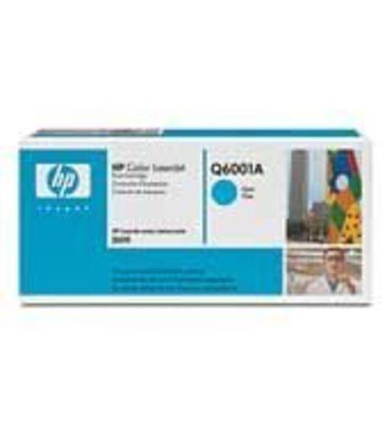 Картридж HP Q6001A (HP 124A) cyan голубой - тонер-картридж для HP Color LaserJet 1600, 2600n, 2605, 2605dn, 2605dtn, CM1015, CM1017 (голубой, 2000 стр.)
