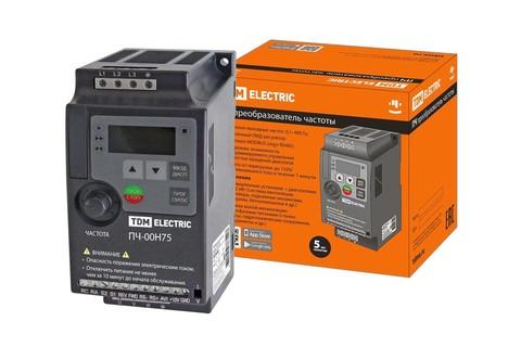 Преобразователь частоты ПЧ-00H75 230В 0,75кВт TDM