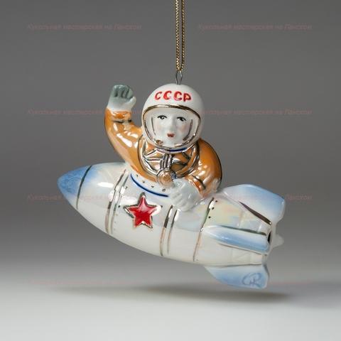 Ракета с космонавтом