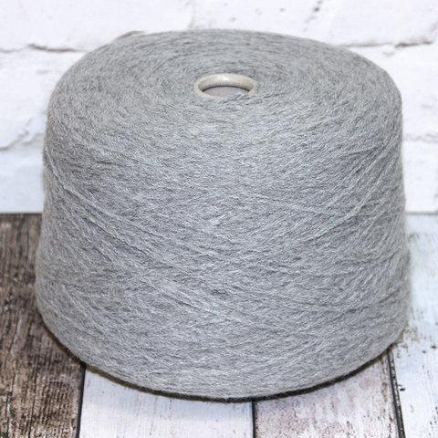 Смесовка с альпакой и мериносом FASHON MILL FOKKER 233 серый меланж