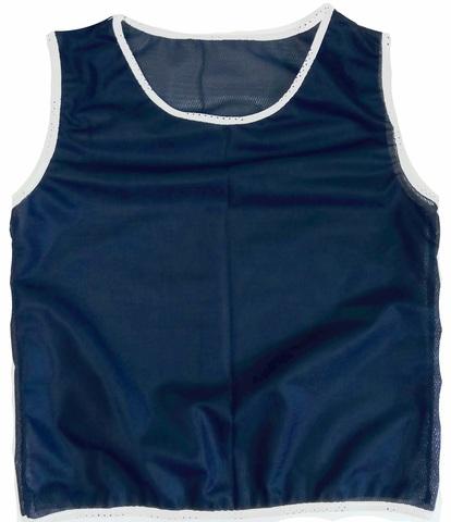 Манишка футбольная детская синяя, ткань сетка