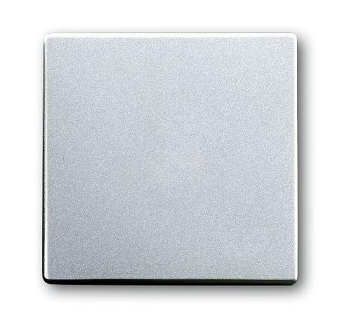 Выключатель одноклавишный. Цвет Cеребристо-алюминиевый. ABB (АББ). Dynasty/Solo/Future/Axcen/Carat/Pure. 1012-0-2131+1751-0-3075