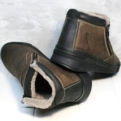 Ботинки с натуральным мехом мужские Rifellini Rovigo 046 Brown Black.